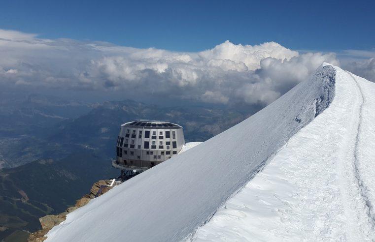 Mont blanc et le refuge du Goûter