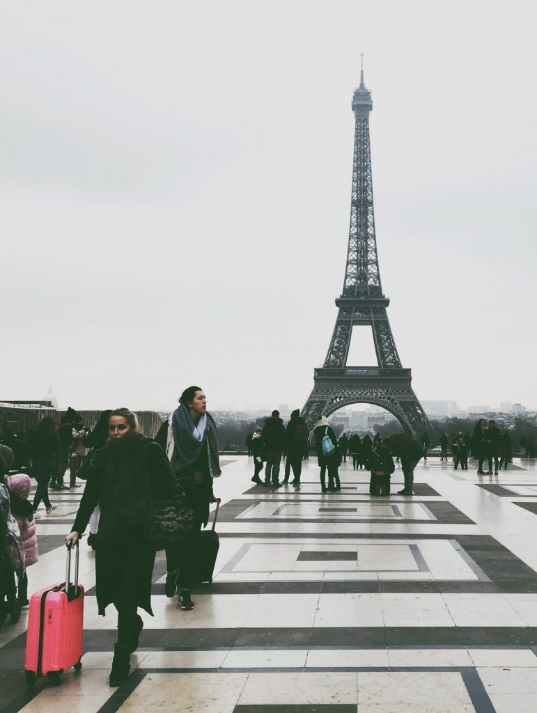 Les touristes à Paris