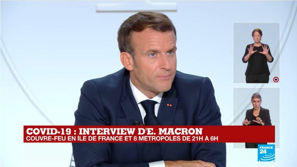 Emmanuel Macron Couvre Feu
