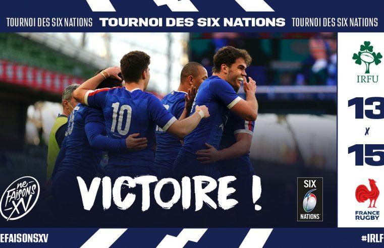 Rugby : la France bat l'Irlande et domine le tournoi des 6 nations